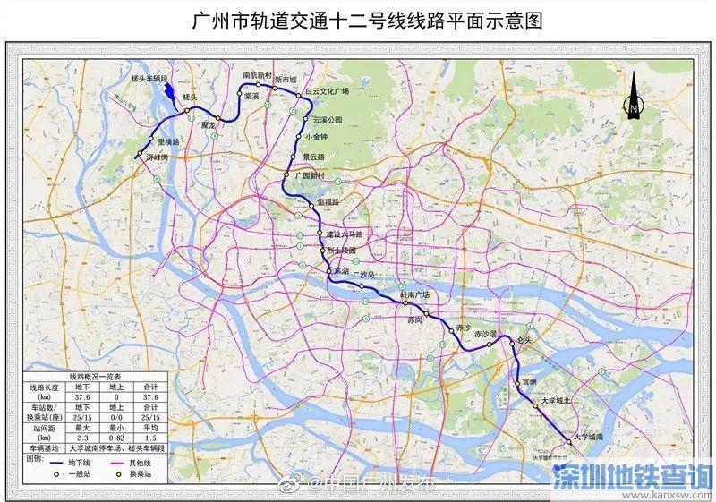 广州地铁12号线2020年5月最新进展 土建完成5%