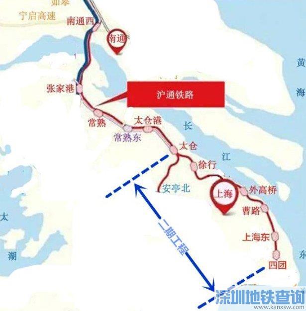 通沪铁路二期规划经过苏州哪些地方