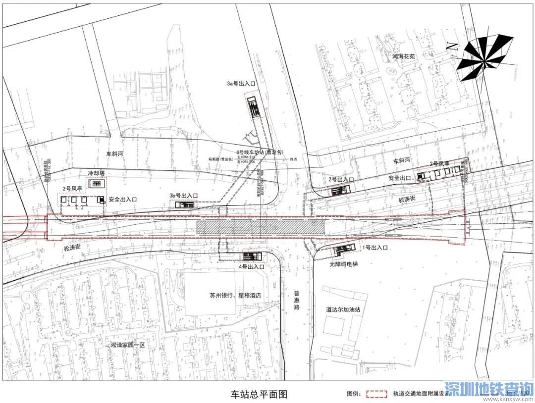 苏州地铁8号线站点分布位置图