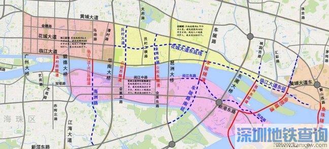 2020广州珠江两岸将规划建设这8条过江隧道(附图)