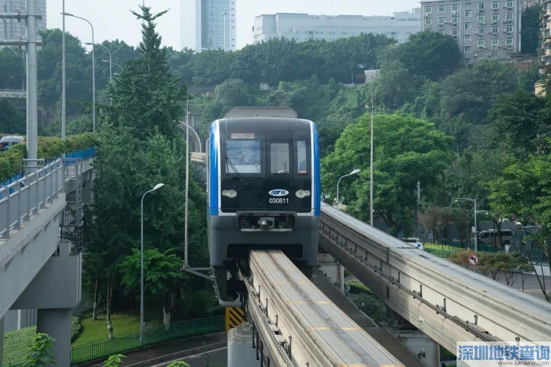 重庆地铁6号线支线二期近日实现电通