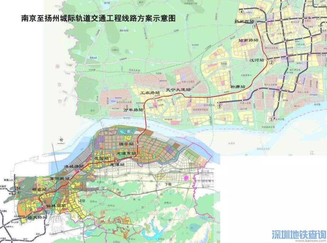 南京地铁S10宁仪城际规划的换乘站点有哪些