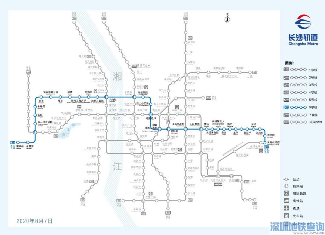 长沙地铁6号线韶光站出入口2月13日已建成(附预计开通时间+线路图)
