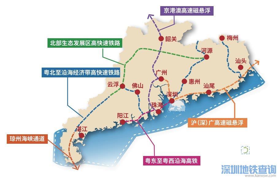 2021广深磁悬浮线路规划图(最新高清图)