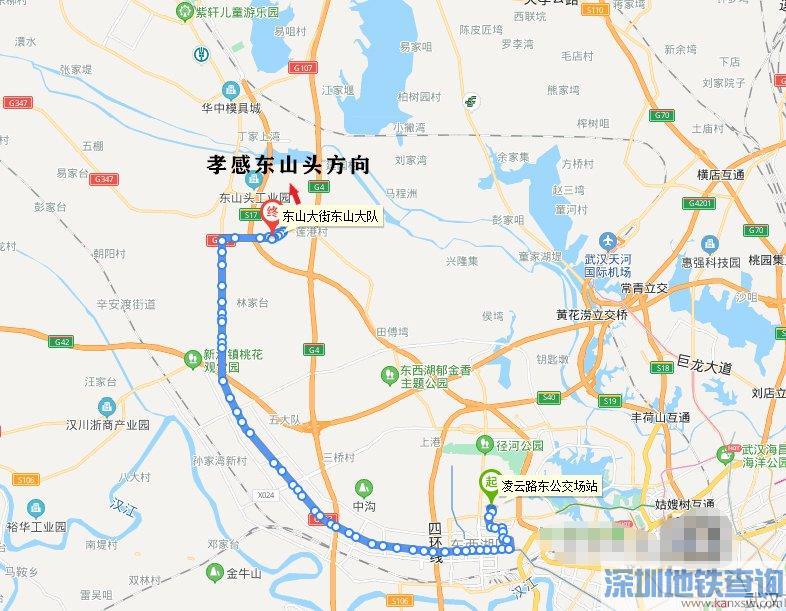 2021武汉孝感城际公交站点及最新路线图